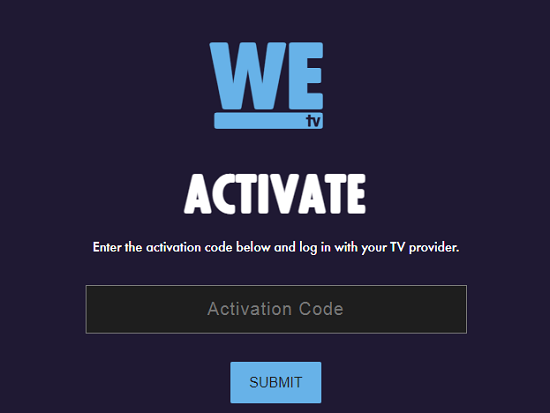 How to activate WE TV on streaming devices?