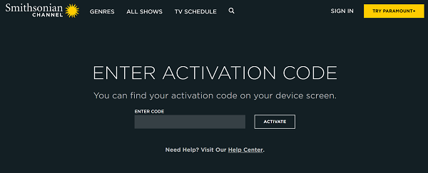 sc.tv/activate- How to activate Smithsonian Channel?